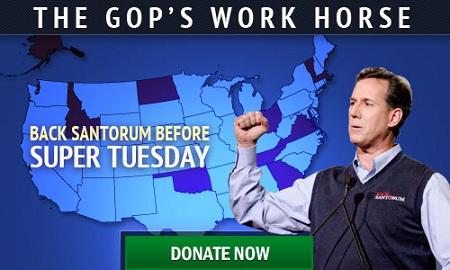 Santorum the angry weatherman