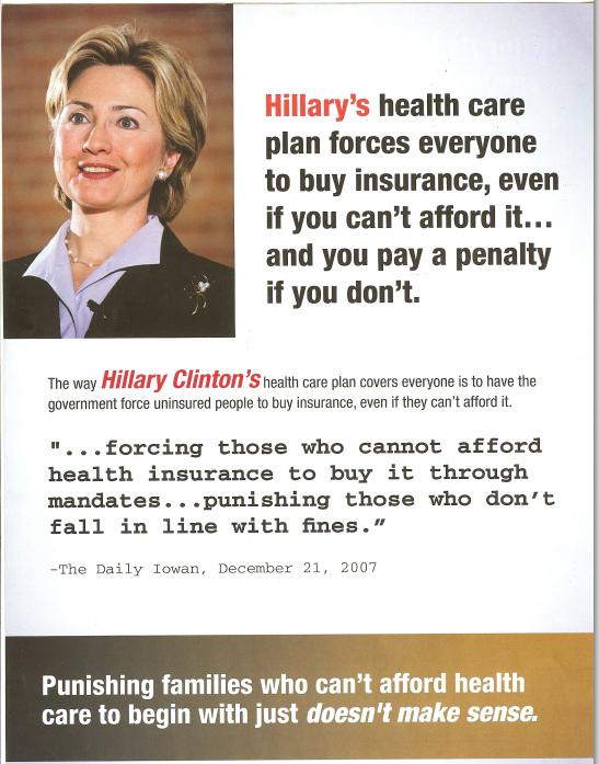 Obama ad on Hillarycare 2