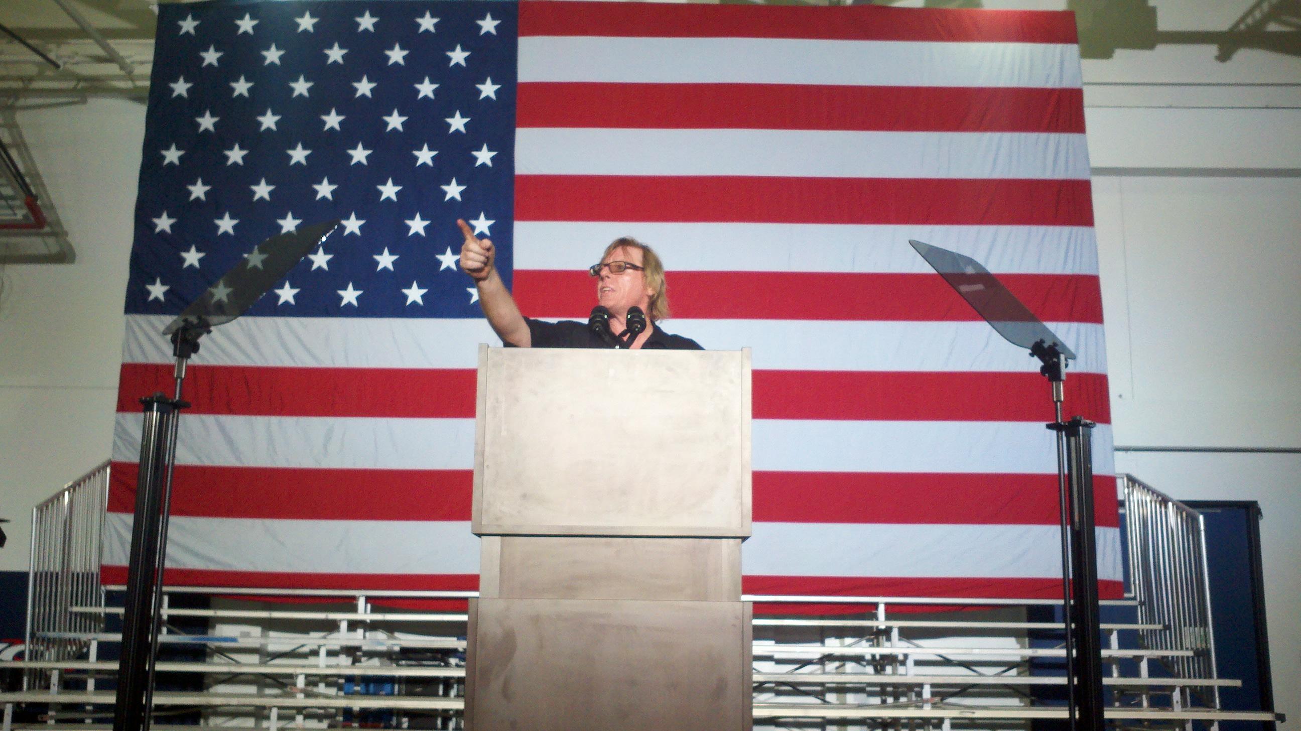 me at podium
