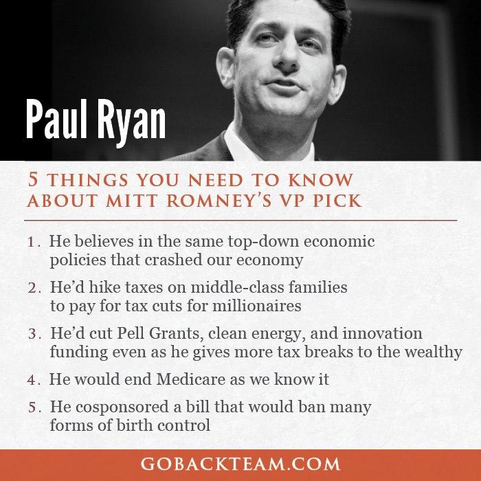 Paul ryan and 5 things BO